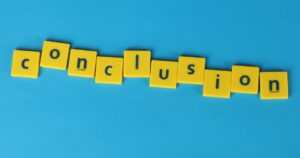 Conclusion letter blocks spelling