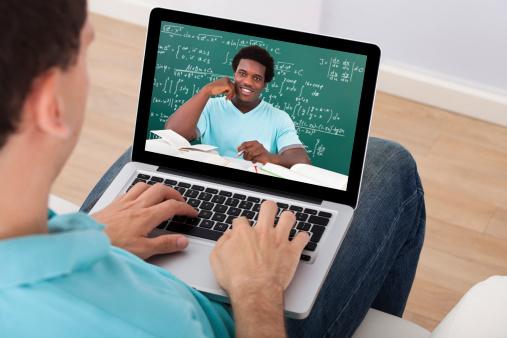 Online instructor teaching math
