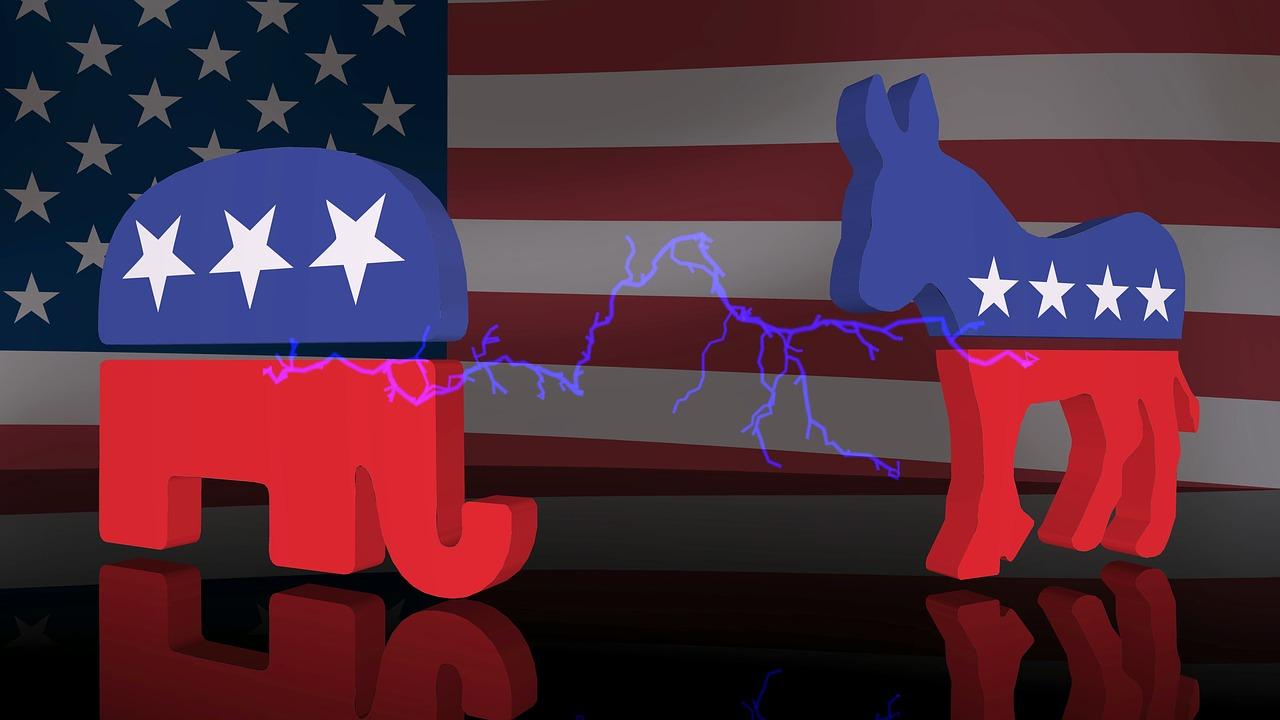 Republican vs Democrat 3D image