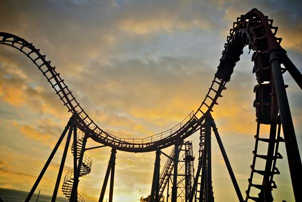 A roller coaster is a great metaphor for a school year's ups and downs.