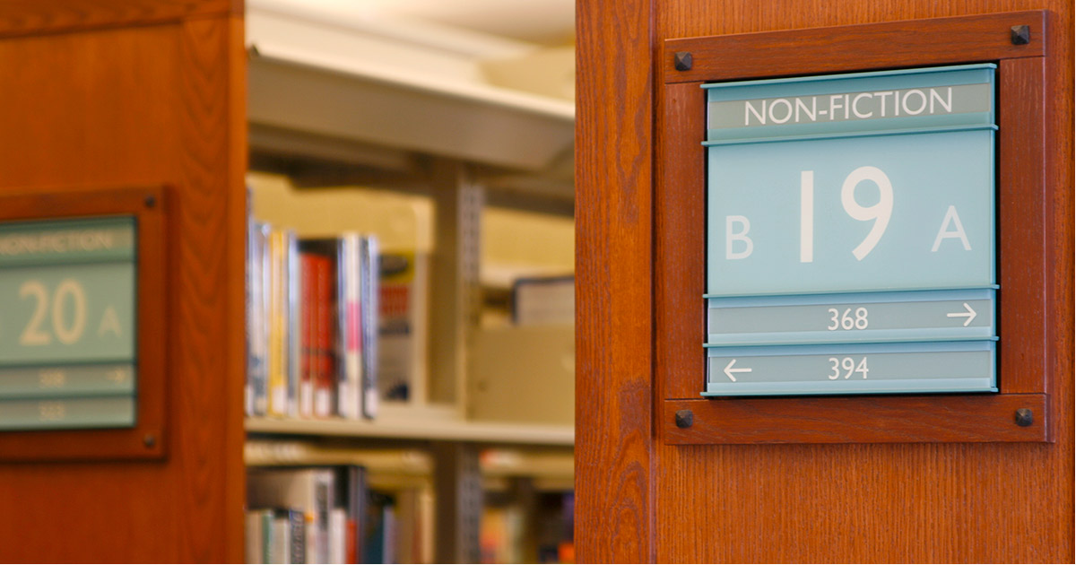 Non-fiction section in the library