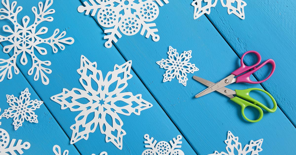A winter STEAM project: making snowflakes out of paper