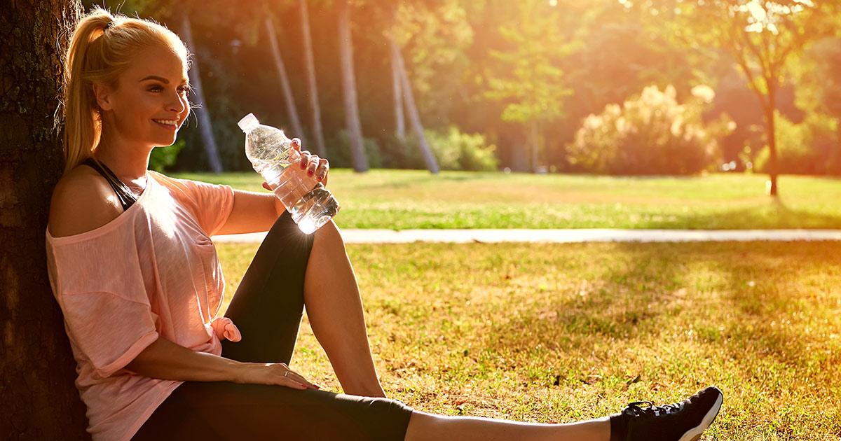 A teacher relaxing after exercising