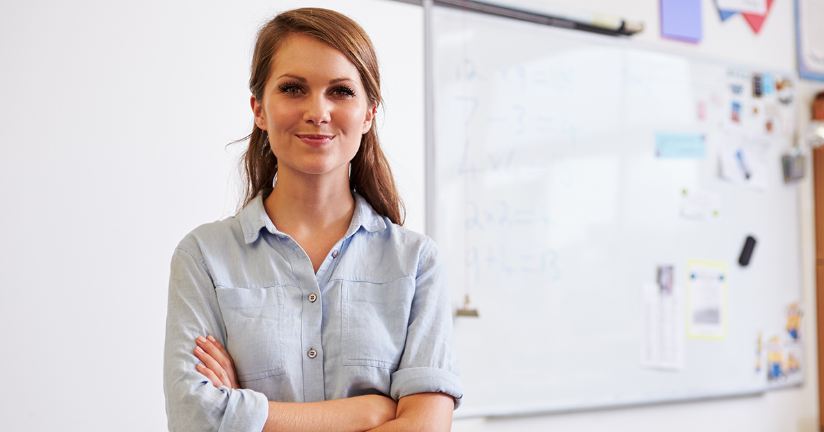 A proud teacher who just developed a great lesson plan