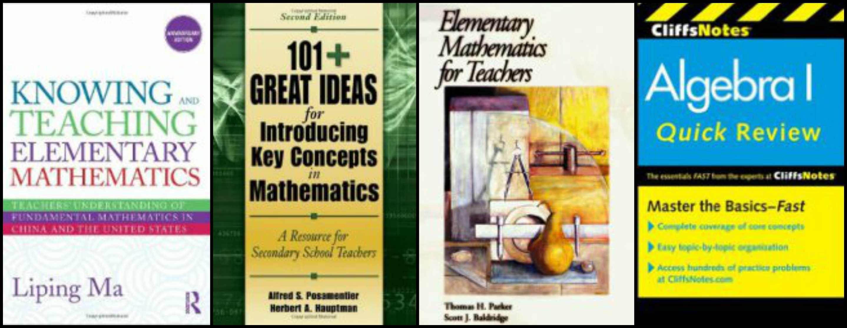 4 Math Books for Teachers