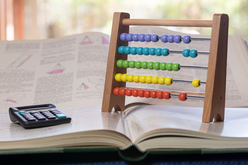 Calculator and Abacus for Math Classes