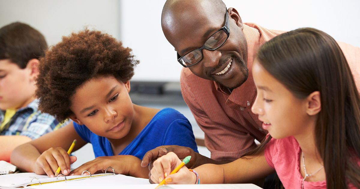 A teacher ensuring education equity in his classroom