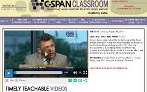 C-Span Classroom offers an abundance of social studies resources