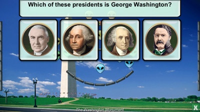 The 'Presidents vs. Aliens' app helps 9- to 11-year-olds learn about American presidents