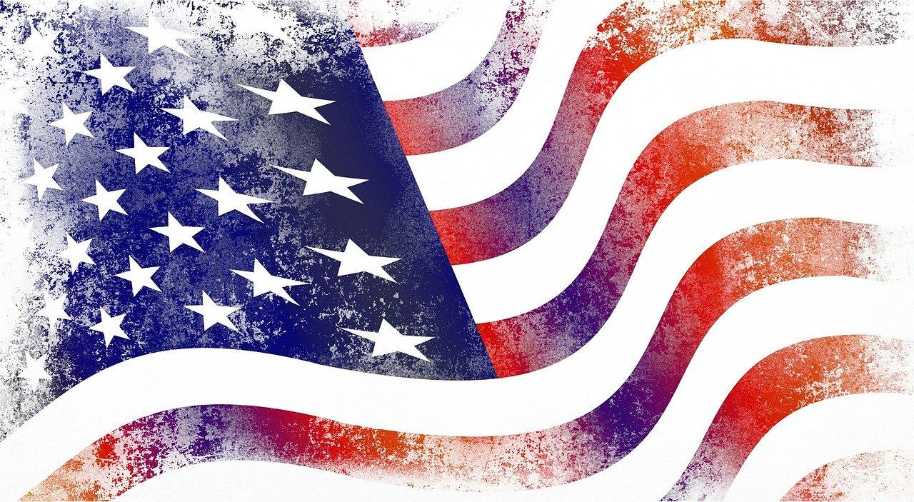 Faded USA flag