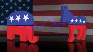 Republican vs Democrat 3D image