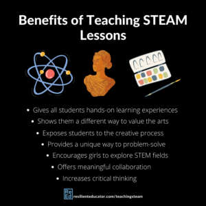 There's been a big push for incorporating lessons and activities that use STEAM: science, technology, engineering, art, and math. But how exactly do these multilayered projects help students? Here are some of the specific ways in which students can benefit from STEAM in the classroom.