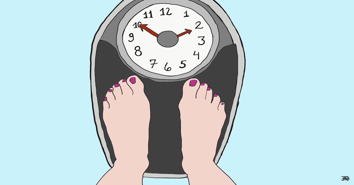 weight scale with clock