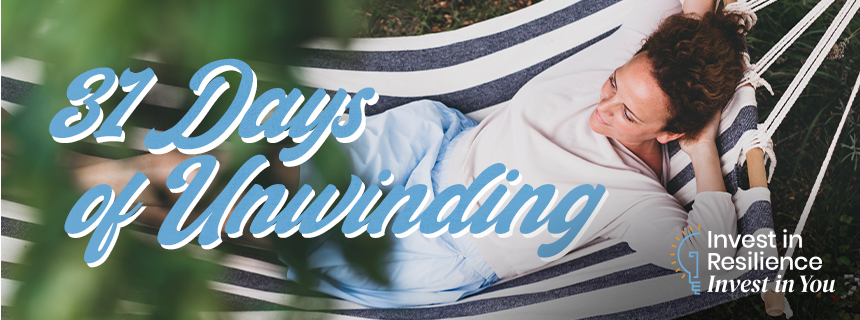 31 days of unwinding: invest in resilience and invest in you - lady relaxing in hammock
