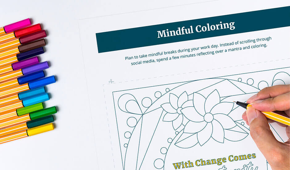 Mindful Coloring pages worksheet